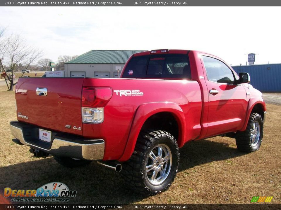 2010 toyota tundra regular cab 4x4 radiant red graphite gray photo 4. Black Bedroom Furniture Sets. Home Design Ideas