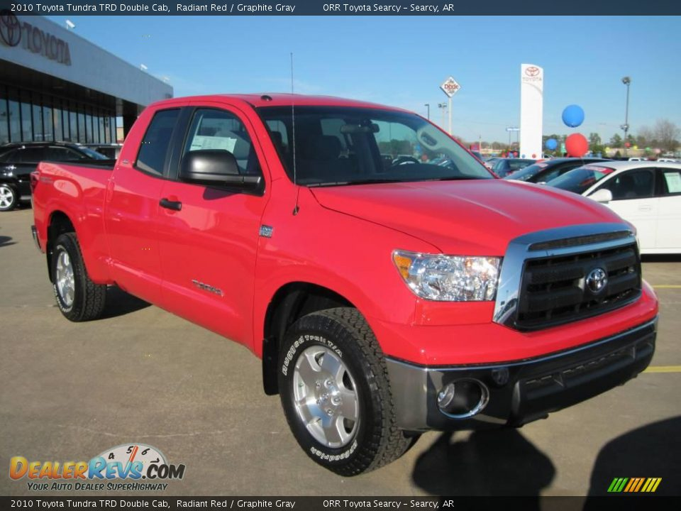2010 toyota tundra trd double cab radiant red graphite. Black Bedroom Furniture Sets. Home Design Ideas