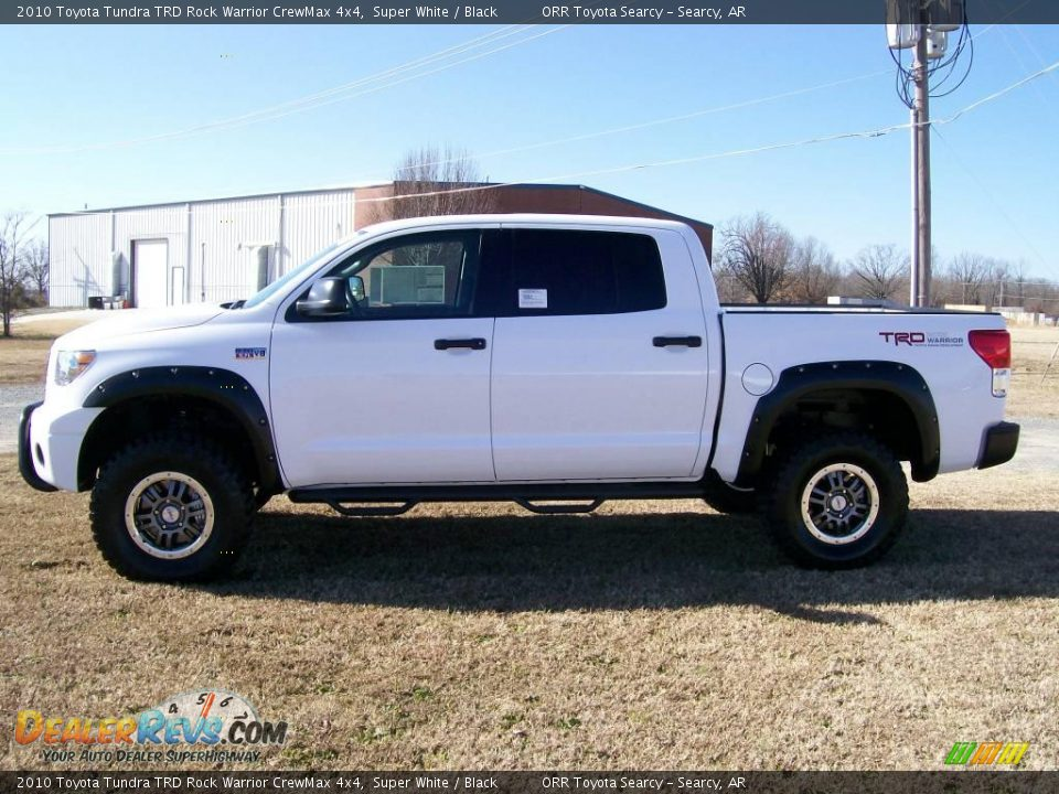 2010 Toyota Tundra TRD Rock Warrior CrewMax 4x4 Super White / Black
