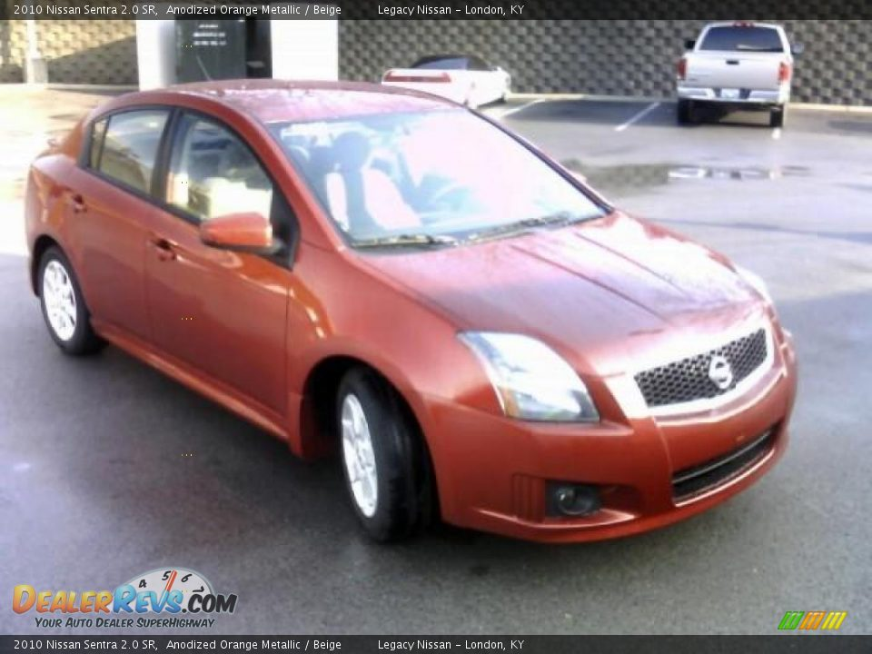 2010 nissan sentra 2 0 sr anodized orange metallic beige photo 3. Black Bedroom Furniture Sets. Home Design Ideas