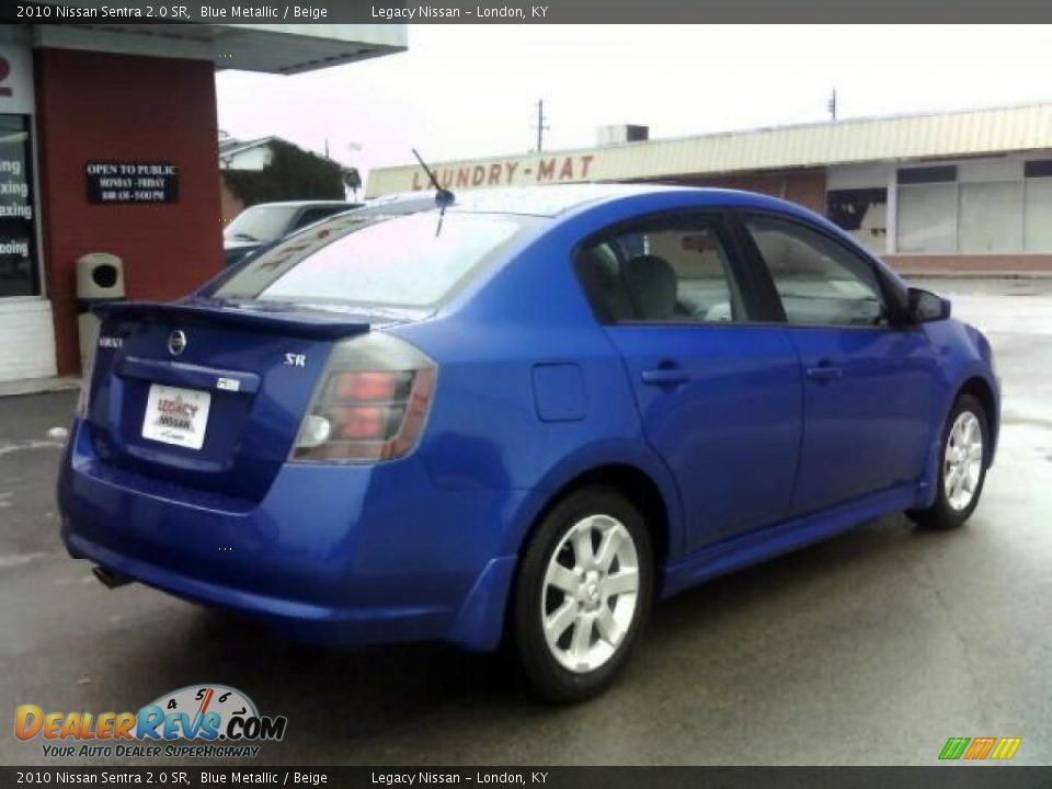 2010 nissan sentra 2 0 sr blue metallic beige photo 5. Black Bedroom Furniture Sets. Home Design Ideas