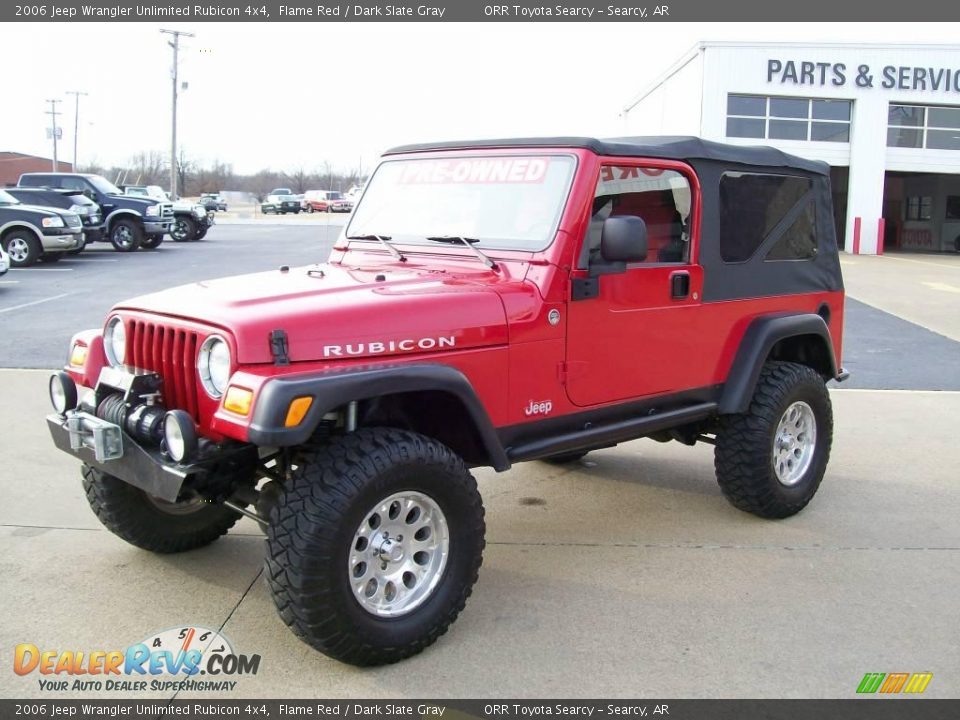 2006 jeep wrangler unlimited rubicon 4x4 flame red dark slate gray photo 2. Black Bedroom Furniture Sets. Home Design Ideas