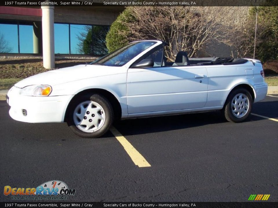 1997 Toyota Paseo Convertible Super White Gray Photo 6