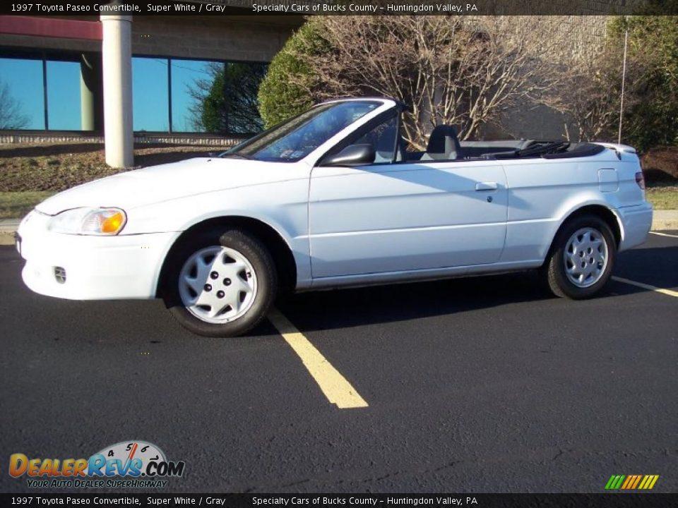 1997 Toyota Paseo Convertible Super White Gray Photo 6