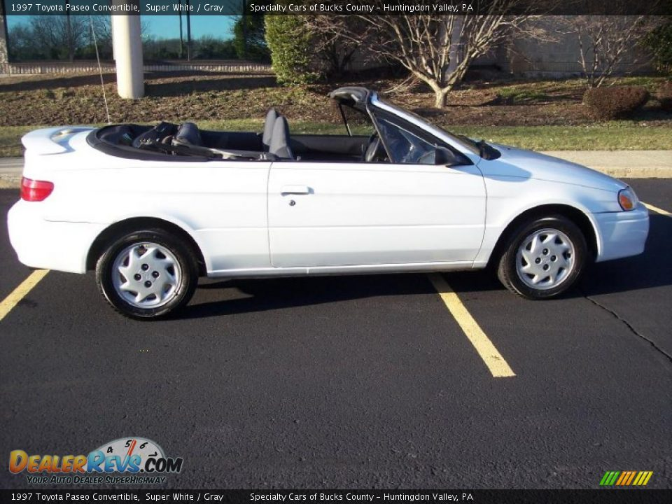 1997 Toyota Paseo Convertible Super White Gray Photo 17
