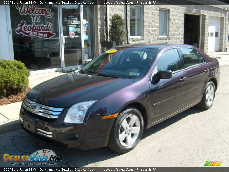 2007 ford fusion se v6 dark amethyst metallic charcoal. Black Bedroom Furniture Sets. Home Design Ideas