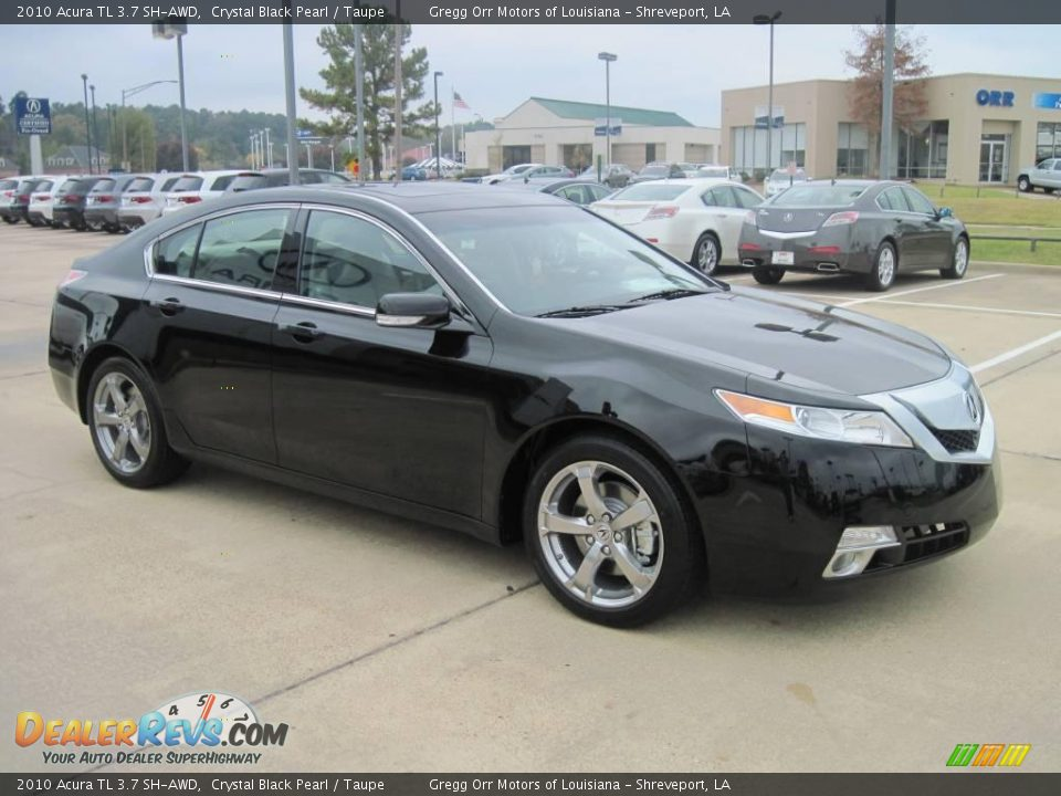 2010 Acura TL 3.7 SH-AWD Crystal Black Pearl / Taupe Photo #2 | DealerRevs.com
