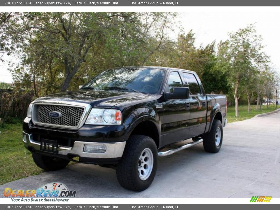2004 ford f150 lariat supercrew 4x4 black black medium. Black Bedroom Furniture Sets. Home Design Ideas