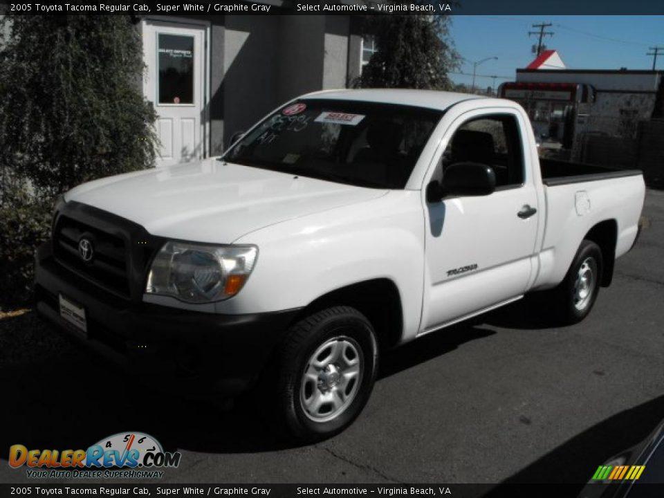 2005 Toyota Tacoma Regular Cab Super White Graphite Gray