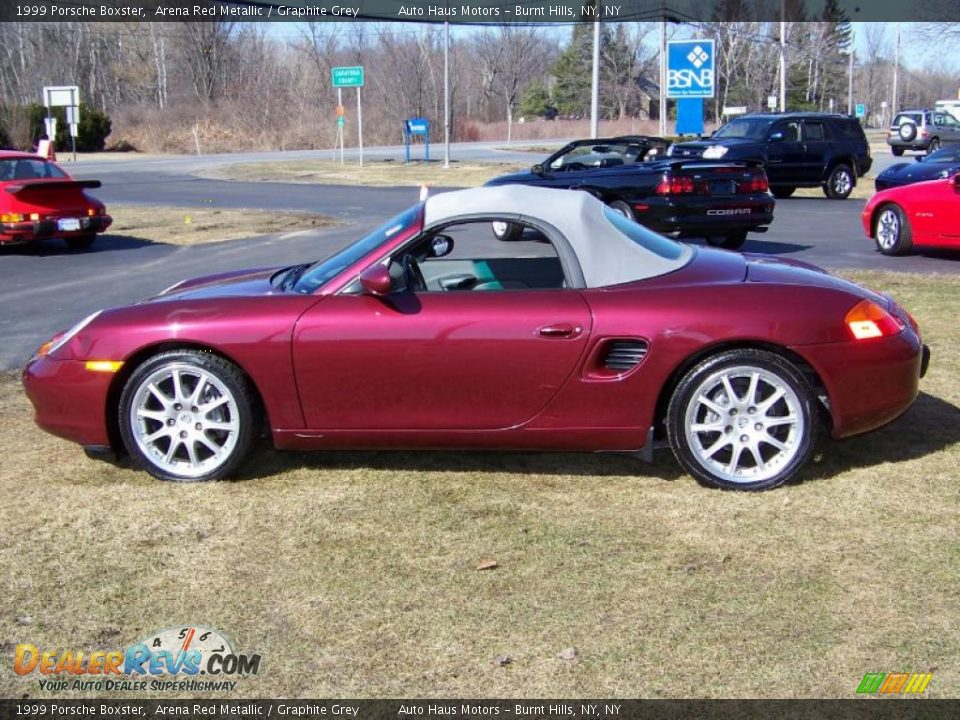 1999 Porsche Boxster Arena Red Metallic Graphite Grey