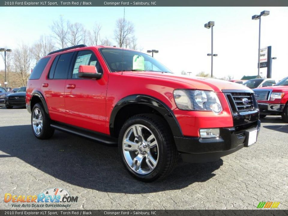 2010 ford explorer xlt sport torch red black photo 1 dealerrevs. Cars Review. Best American Auto & Cars Review