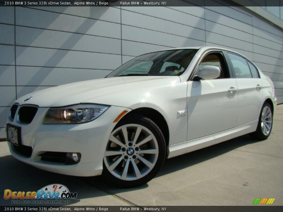 2010 bmw 3 series 328i xdrive sedan alpine white beige. Black Bedroom Furniture Sets. Home Design Ideas