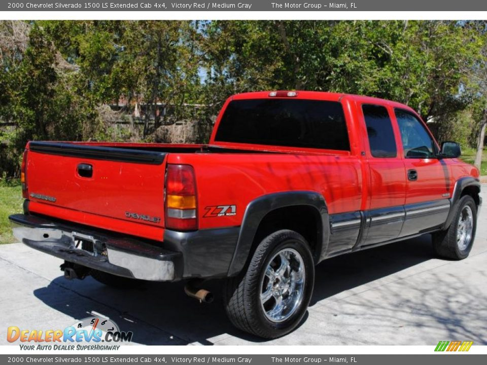2000 chevrolet silverado 1500 ls extended cab 4x4 victory red medium gray photo 7. Black Bedroom Furniture Sets. Home Design Ideas