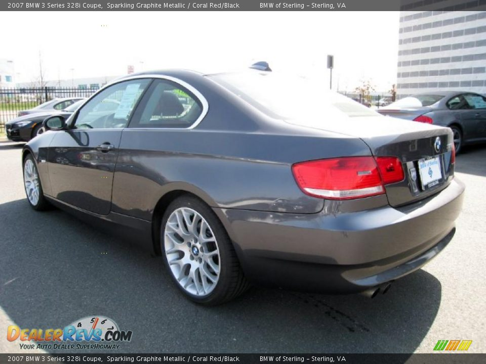 2007 bmw 3 series 328i coupe sparkling graphite metallic coral red black photo 4. Black Bedroom Furniture Sets. Home Design Ideas