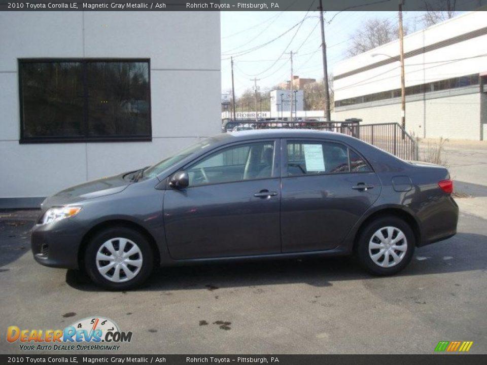 2010 Toyota Corolla Le Magnetic Gray Metallic Ash Photo