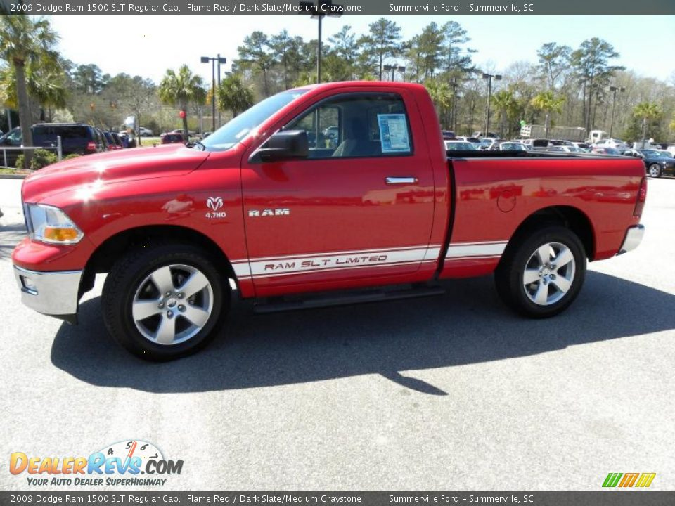 2009 Dodge Ram 1500 Slt Regular Cab Flame Red Dark Slate