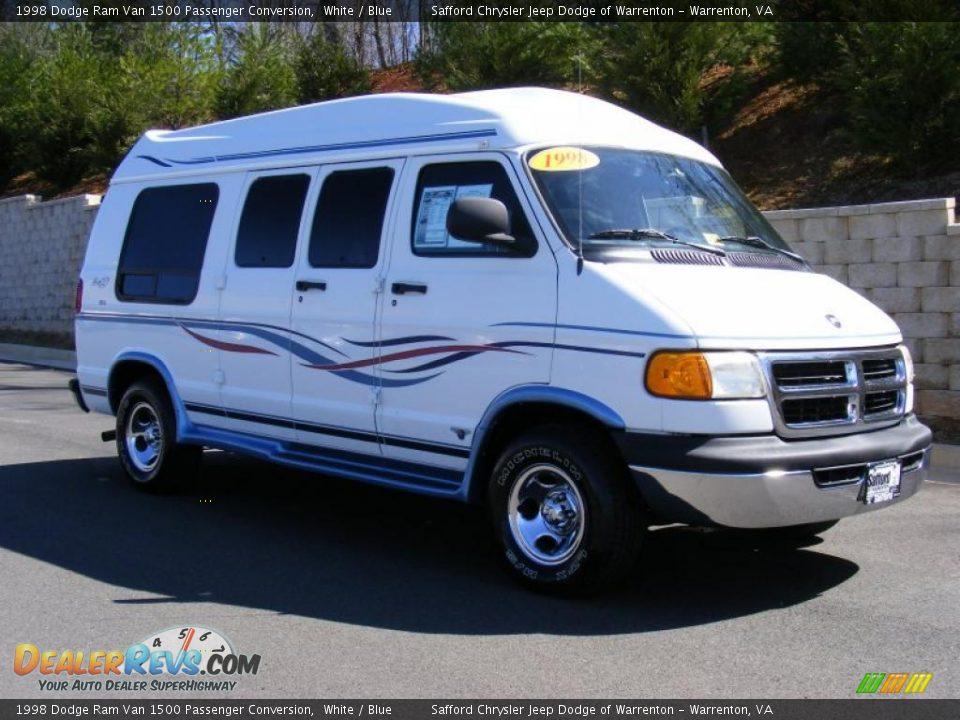 1998 dodge ram van 1500 passenger conversion white blue. Black Bedroom Furniture Sets. Home Design Ideas