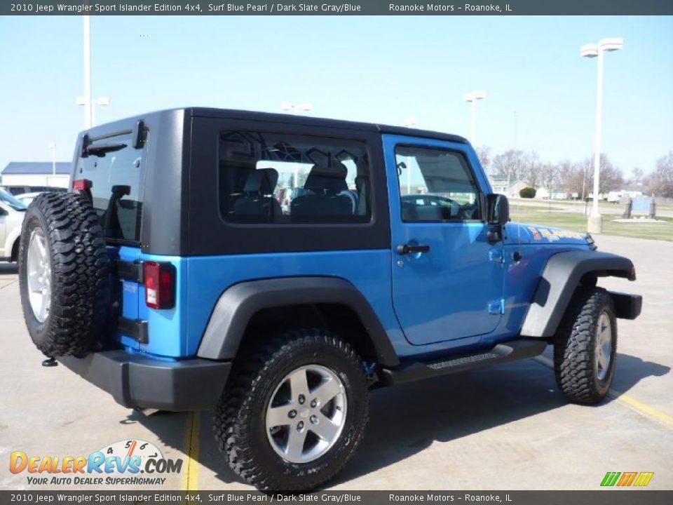 2010 Jeep Wrangler Sport Islander Edition 4x4 Surf Blue Pearl Dark Slate Gray Blue Photo 2
