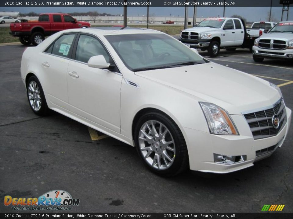 2010 Cadillac Cts 3 6 Premium Sedan White Diamond Tricoat