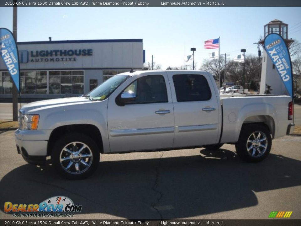 2010 gmc sierra 1500 denali crew cab awd white diamond tricoat ebony photo 2. Black Bedroom Furniture Sets. Home Design Ideas