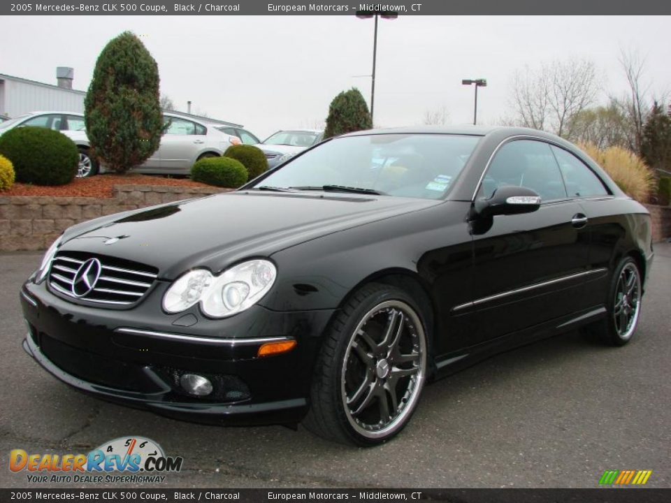 2005 mercedes benz clk 500 coupe black charcoal photo 1 for Mercedes benz clk 2005