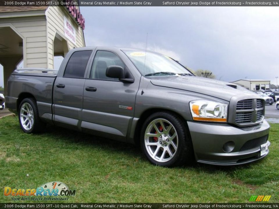 2006 dodge ram 1500 srt 10 quad cab mineral gray metallic medium slate gray photo 3. Black Bedroom Furniture Sets. Home Design Ideas