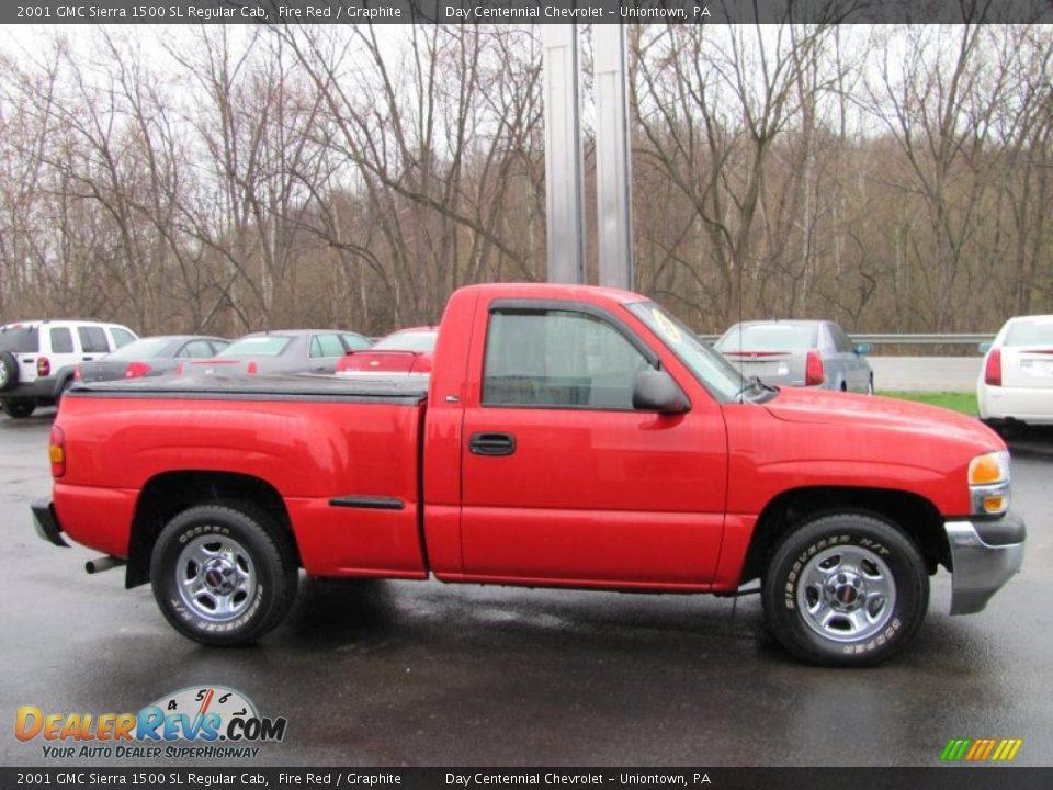 Regular Cab Gmc >> 2001 GMC Sierra 1500 SL Regular Cab Fire Red / Graphite ...