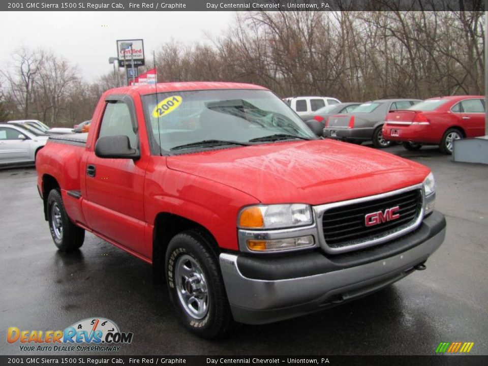2001 gmc sierra 1500 sl regular cab fire red graphite photo 12. Black Bedroom Furniture Sets. Home Design Ideas