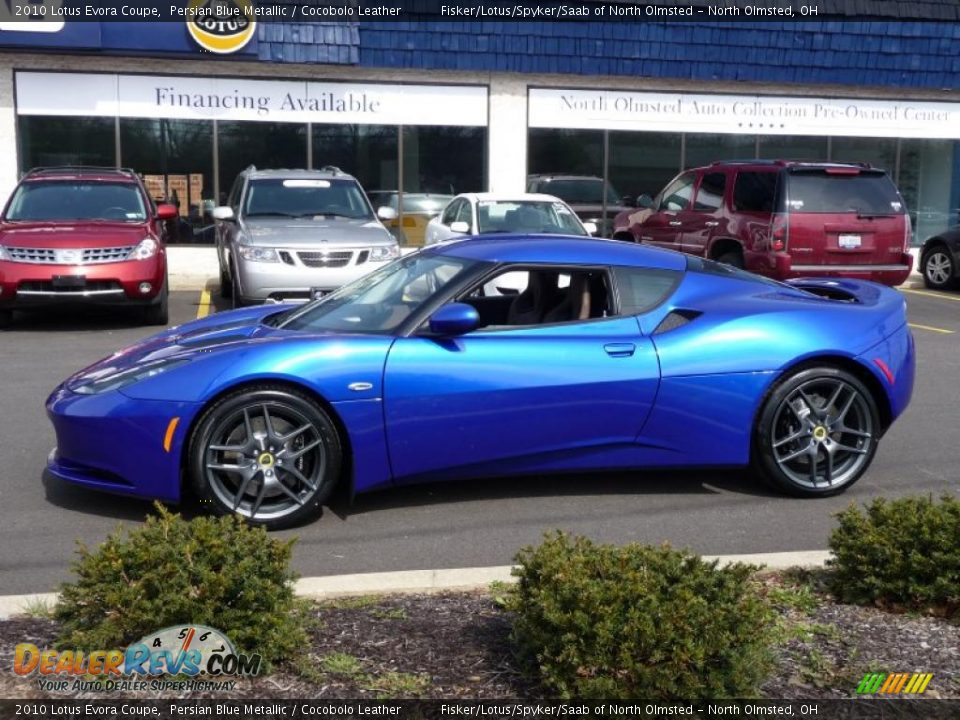 persian blue metallic 2010 lotus evora coupe photo 2 dealerrevs