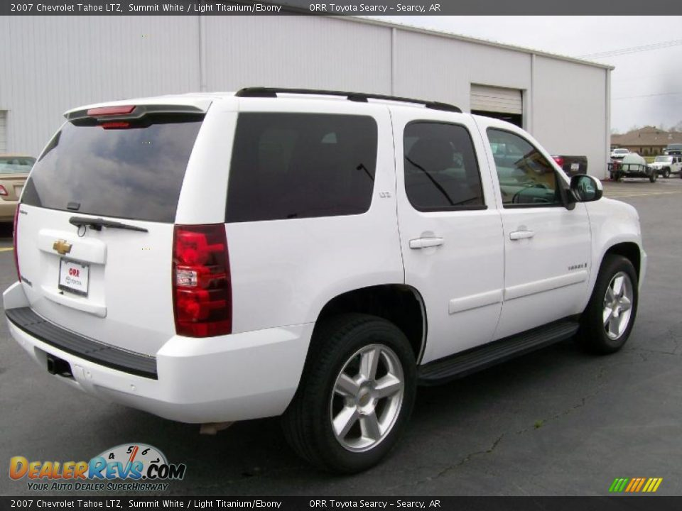 2007 Chevrolet Tahoe Ltz Summit White Light Titanium