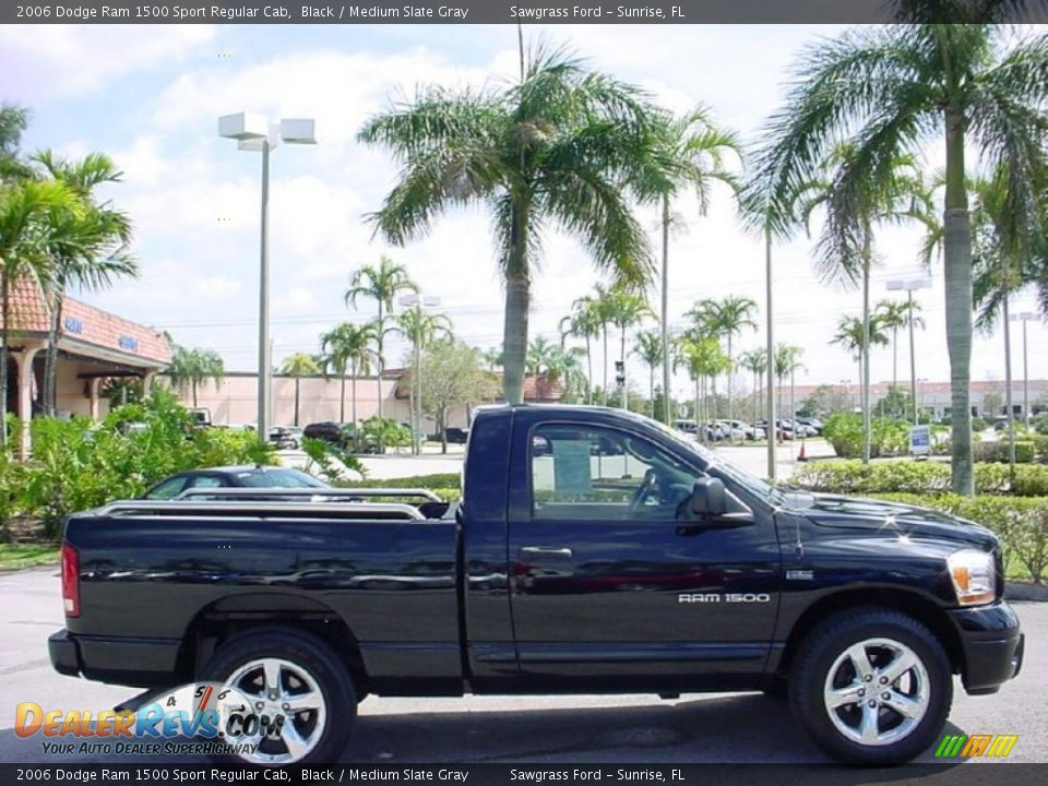 2006 dodge ram 1500 sport regular cab black medium slate gray photo 2. Black Bedroom Furniture Sets. Home Design Ideas