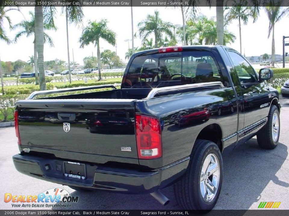 2006 dodge ram 1500 sport regular cab black medium slate gray photo 3. Black Bedroom Furniture Sets. Home Design Ideas