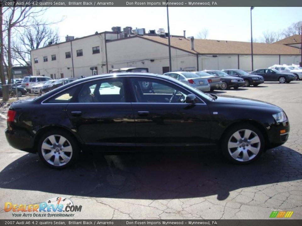 2007 Audi A6 4.2 quattro Sedan Brilliant Black / Amaretto Photo #6  Audi A Black on 07 dodge 3500 black, 07 acura mdx black, 07 chevy malibu black, 07 dodge charger black, 07 jeep compass black, 07 hummer h2 black, 07 dodge nitro black, 07 chevy avalanche black, 07 ford fusion black, 07 honda accord black, 07 cadillac srx black,