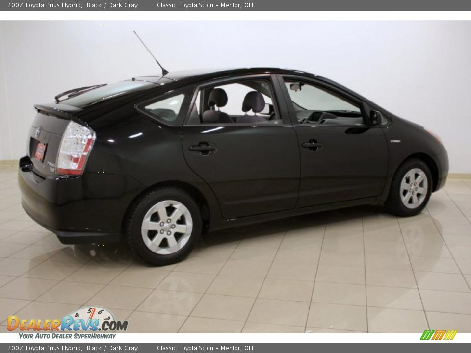 2007 Toyota Prius Hybrid Black Dark Gray Photo 7