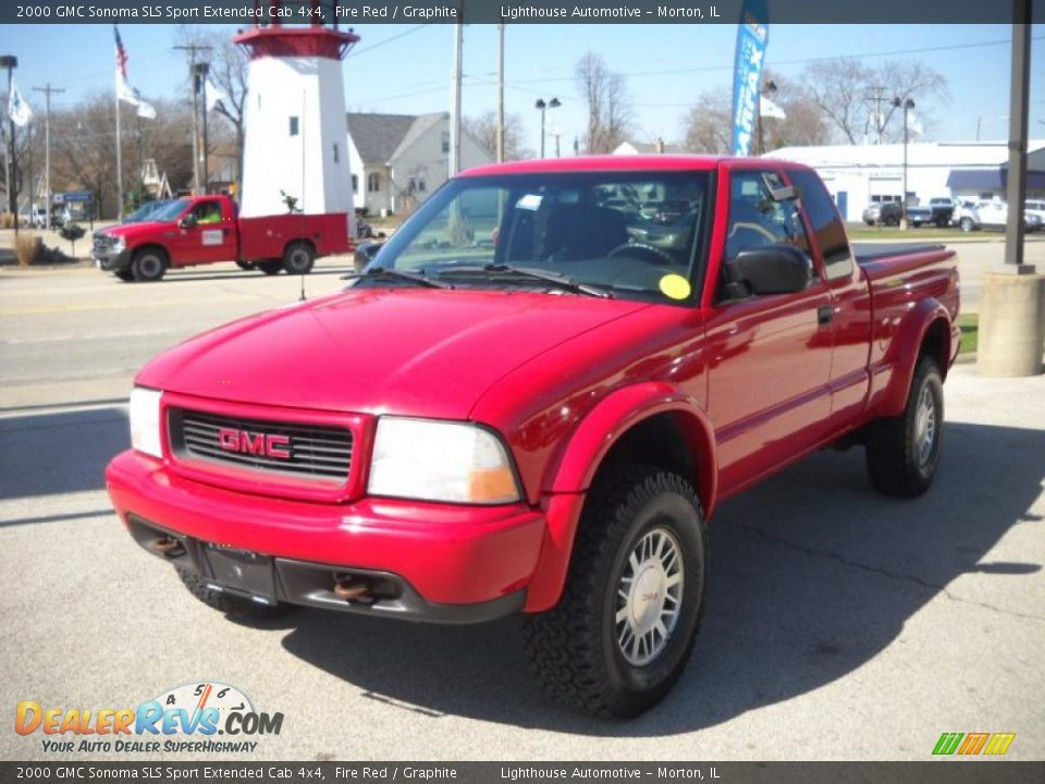 2000 gmc sonoma sls sport extended cab 4x4 fire red graphite photo 3. Black Bedroom Furniture Sets. Home Design Ideas