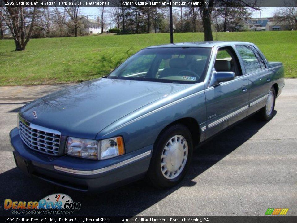 1999 Cadillac Deville Sedan Parisian Blue Neutral Shale