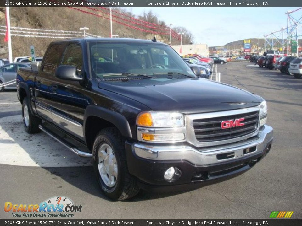 2006 gmc sierra 1500 z71 crew cab 4x4 onyx black dark pewter photo 6. Black Bedroom Furniture Sets. Home Design Ideas