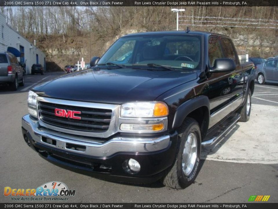 2006 gmc sierra 1500 z71 crew cab 4x4 onyx black dark pewter photo 8. Black Bedroom Furniture Sets. Home Design Ideas