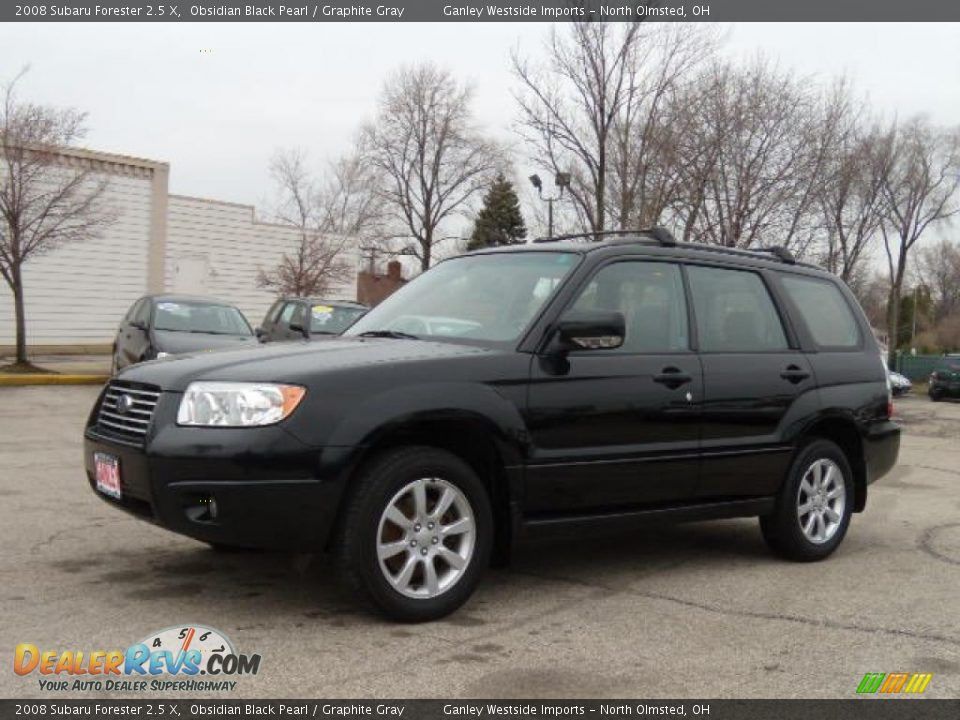 2008 subaru forester 2 5 x obsidian black pearl graphite gray photo 1. Black Bedroom Furniture Sets. Home Design Ideas