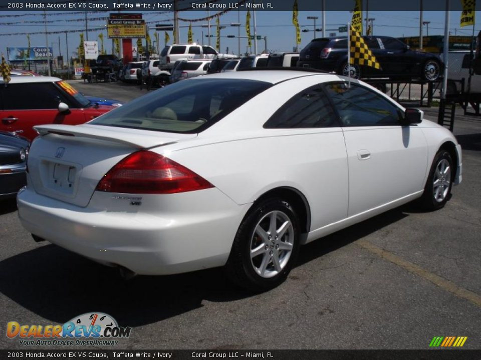 2003 White Honda Accord >> 2003 Honda Accord EX V6 Coupe Taffeta White / Ivory Photo #6 | DealerRevs.com