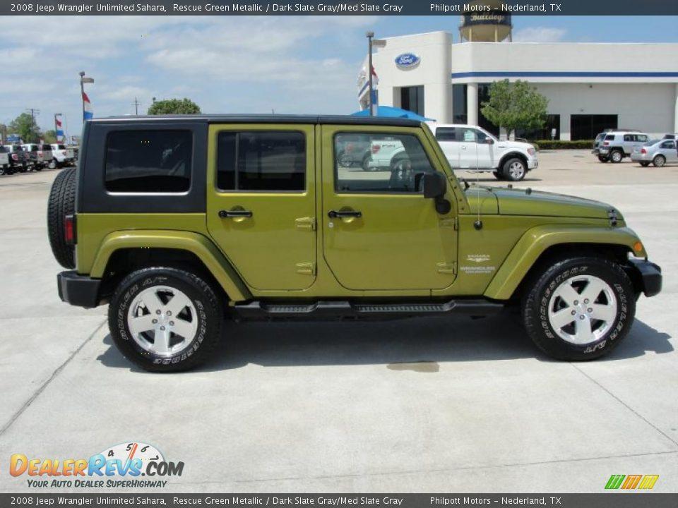 2008 Jeep Wrangler Unlimited Sahara Rescue Green Metallic Dark