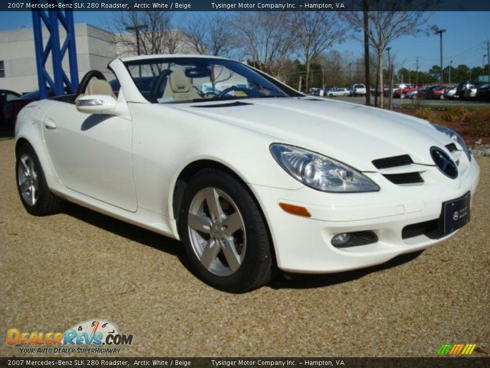 2007 mercedes benz slk 280 roadster arctic white beige photo 9. Black Bedroom Furniture Sets. Home Design Ideas
