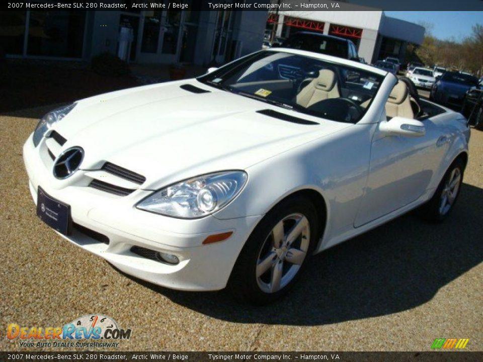 2007 mercedes benz slk 280 roadster arctic white beige for 2007 mercedes benz slk