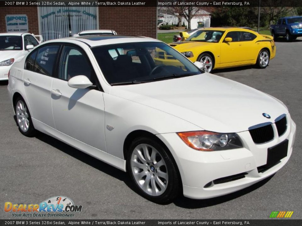 2007 bmw 3 series 328xi sedan alpine white terra black. Black Bedroom Furniture Sets. Home Design Ideas