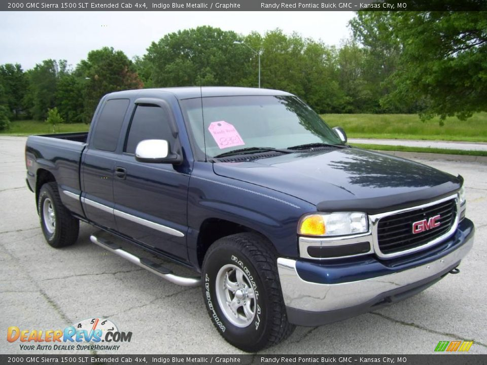 2000 gmc sierra 1500 slt extended cab 4x4 indigo blue metallic graphite photo 2. Black Bedroom Furniture Sets. Home Design Ideas