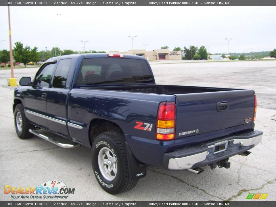 2000 gmc sierra 1500 slt extended cab 4x4 indigo blue metallic graphite photo 6. Black Bedroom Furniture Sets. Home Design Ideas