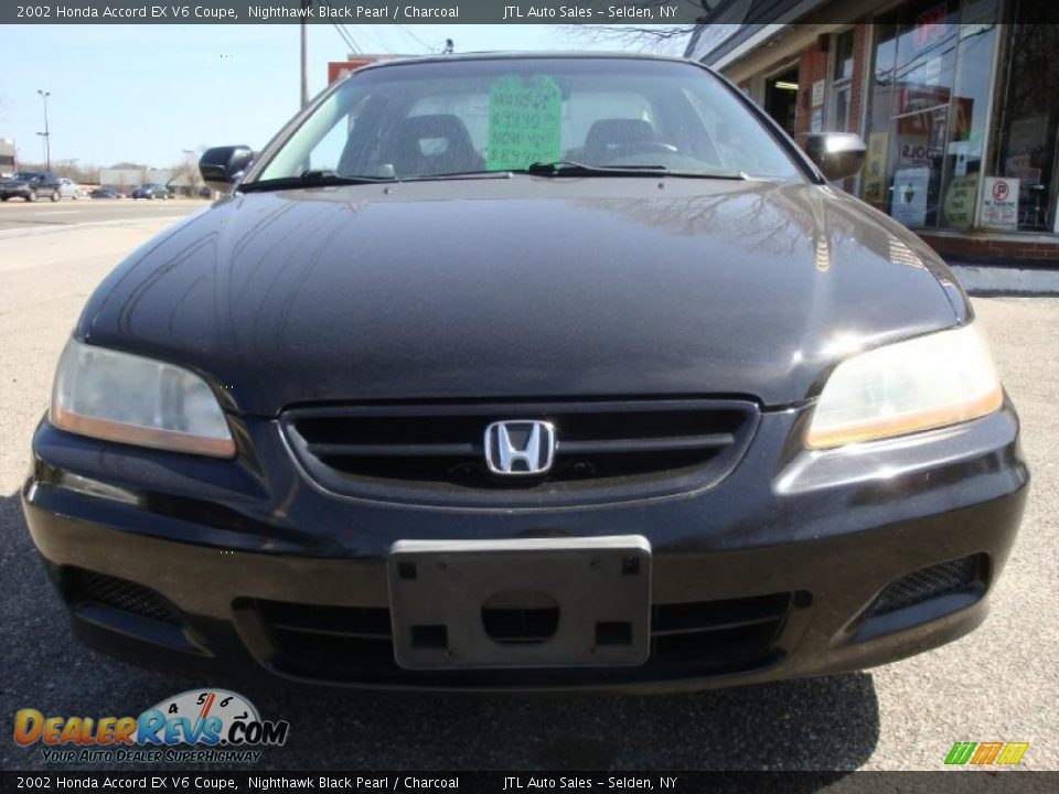 2002 honda accord ex v6 coupe nighthawk black pearl charcoal photo 2. Black Bedroom Furniture Sets. Home Design Ideas