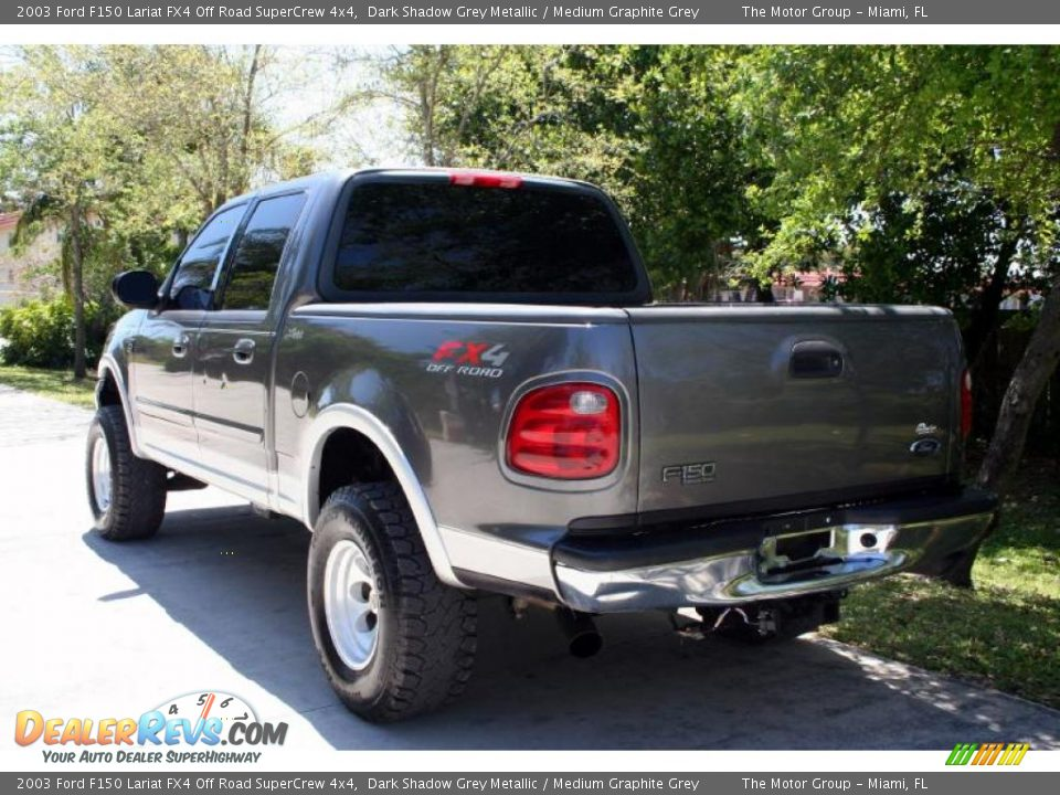 2003 ford f150 lariat fx4 off road supercrew 4x4 dark shadow grey metallic medium graphite. Black Bedroom Furniture Sets. Home Design Ideas