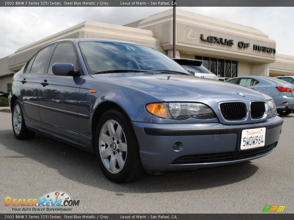 2002 bmw 3 series 325i sedan steel blue metallic grey. Black Bedroom Furniture Sets. Home Design Ideas