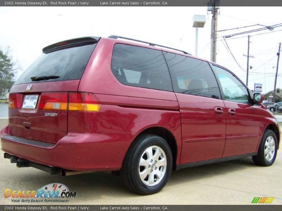 2002 Honda Odyssey EX Red Rock Pearl / Ivory Photo #3 | DealerRevs.com